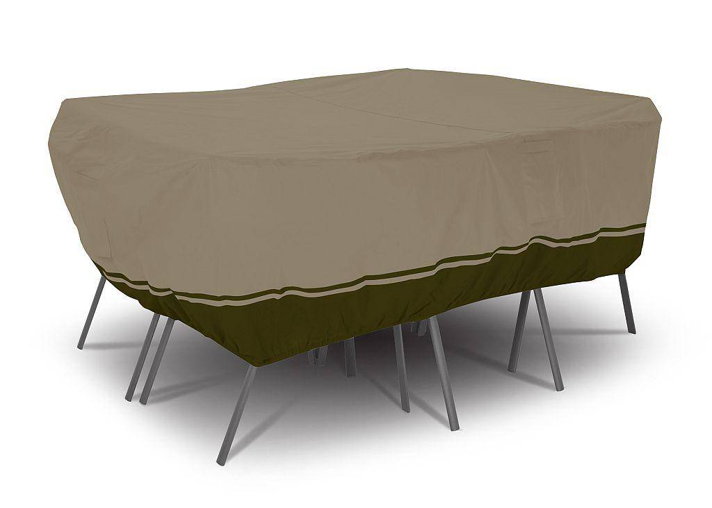 Villa patio rect oval table chair set cover large 55 for Oval patio set cover