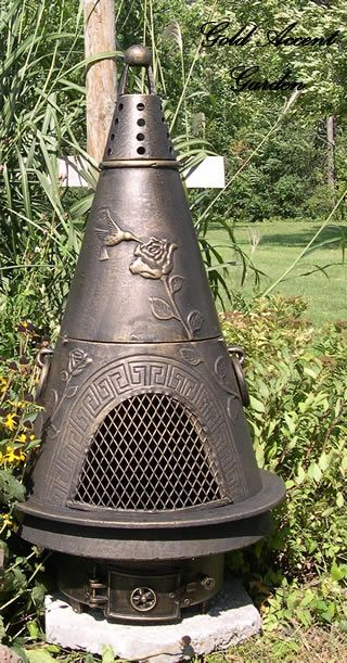 Garden Style Chiminea Outdoor Fireplace Alch009